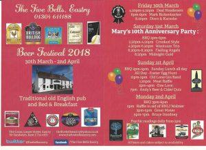 The Five Bells Beer Festival 2018